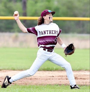 Merryville's Caleb Lewis had a pair of doubles and three RBIs to lead the Panthers to a 21-0 regional playoff win over the Haynesville Golden Tornadoes.