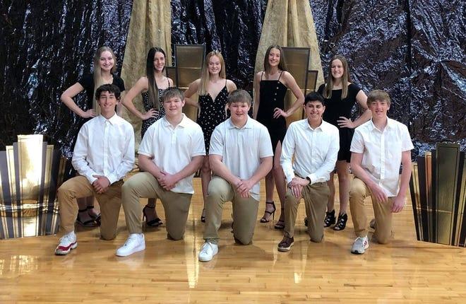 Members of the Boone Prom Court areEmma Gourley,Sierra Mitchell, Catherine Pollard, Liz Purtle, Megan Reutter,Ben Craven, Max Freund, Sam Freund, Miguel Fuentes-Cortez and Wylan Haberer.