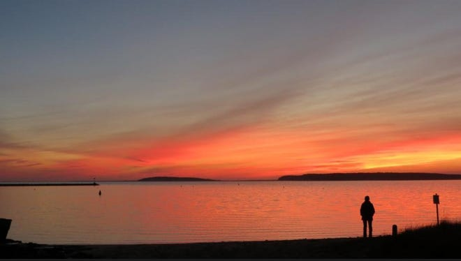 WELLFLEET--Sunset over Wellfleet Harbor, probably my favorite Cape Cod vista!