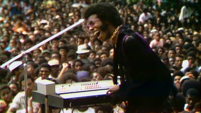 """A still from """"Summer Of Soul (Or, When The Revolution Could Not Be Televised)"""" by Ahmir """"Questlove"""" Thompson"""