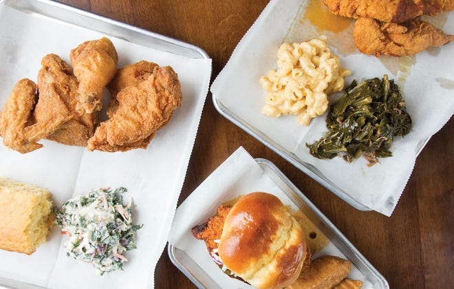 Fried chicken and house-made sides at The Crispy Coop