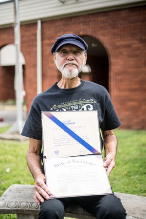 Charlie Duthu, a 73-year-old Houma Indian, graduated from Daigleville School in 1966 with a high school diploma during a time of state and locally imposed racial segregation in Terrebonne Parish.