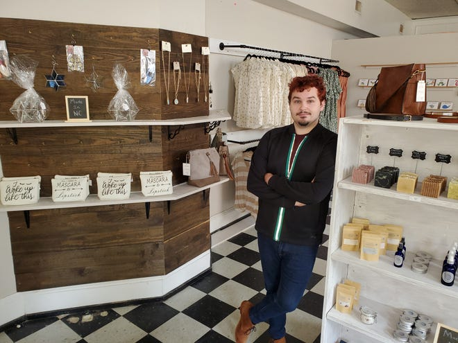 Tommy Wilson of Thomasville, and formerly a set costumer in the entertainment industry in Los Angeles and Georgia, has returned to his roots to open his first retail store, Ravenwood, in downtown Lexington. The grand opening will take place Friday at 10 a.m. with a ribbon-cutting ceremony.