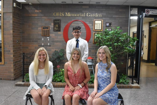 COVID-19 restrictions prevent Orion High School from sponsoring a prom this year, so the school is hosting a semi-formal dinner for juniors and seniors on Friday, May 14, at Lavender Crest Winery. The Spring Court selected for the dinner includes, in front from left, Maryn Bollinger, Marly Lillibridge and Rachel VanDuyne, and in back Nathan Monzon. Additional members not pictured are Will Lawson and Cade Weiss. Class funds are being used for the dinner, which includes a Guys with Ties performance. The dinner replaces the senior dinner traditionally held the week before graduation.