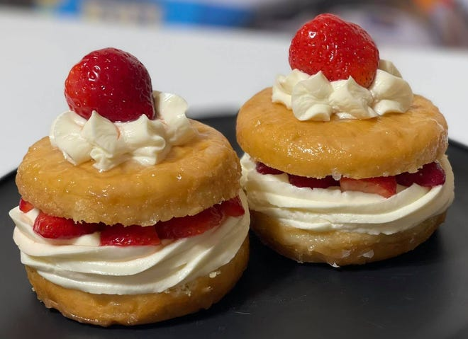 Strawberry cheesecake-stuffed donuts from Meli's Sweet Treats, owned by Melissa Wiseman.
