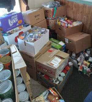 Over 3,400 non-perishable food items were donated to the local pantry.