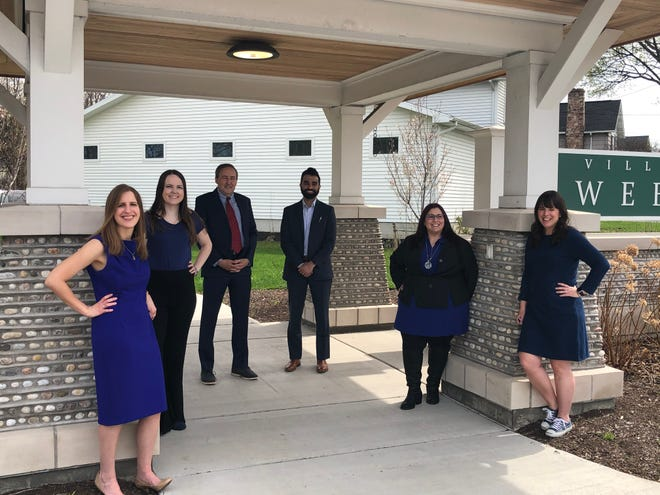The Webster Democratic Committee designates its candidates for town and county offices in 2021. Pictured, from left, are Megan Thompson, Ashley Teague, Jeffrey Taylor, Siddarth Bahl, Danielle Palermo-Jimenez and Sasha DiMaria.