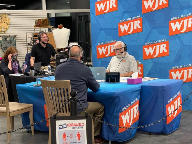 WJR radio personality and Monroe native Paul W. Smith hosted his show from the River Raisin National Battlefield Park Visitor Center Tuesday morning.