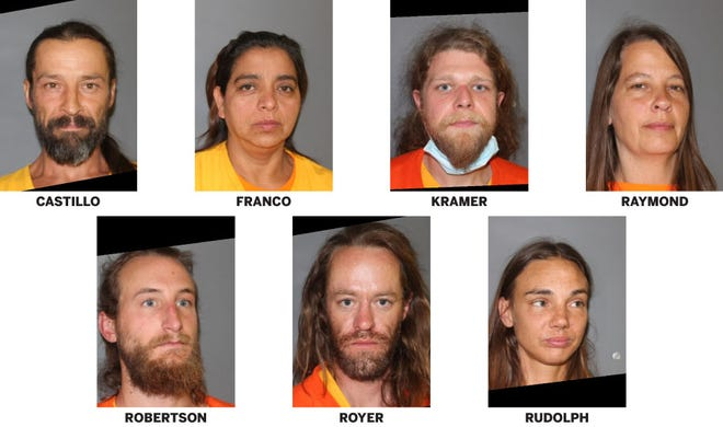 Seven people were arrested in Colorado after the mummified remains of who was thought to be the leader of the Love Has Won group were located near Crestone.