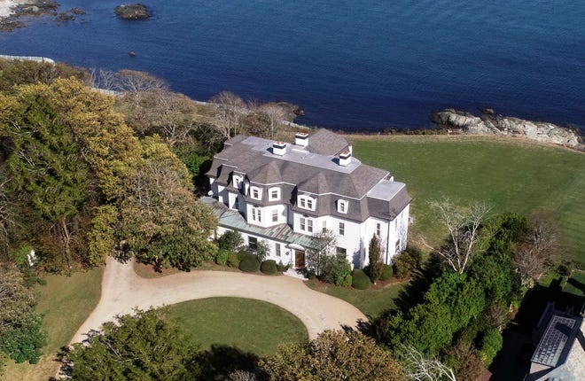 """An aerial view of 662 Bellevue Ave., known as """"Ocean View."""""""
