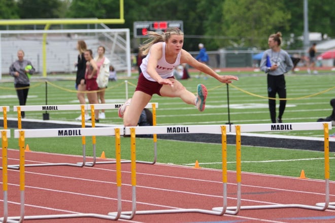 Tuttle's Madi Surber won four Class 4A state track titles this year.