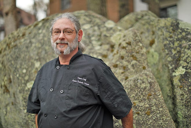 NEWSMAKER- Seth Green of Weymouth who is a head chef at St. Francis House in Boston who creates meals for the cities homeless for the last ten years  on Tuesday May 4, 2021 Greg Derr/The Patriot Ledger