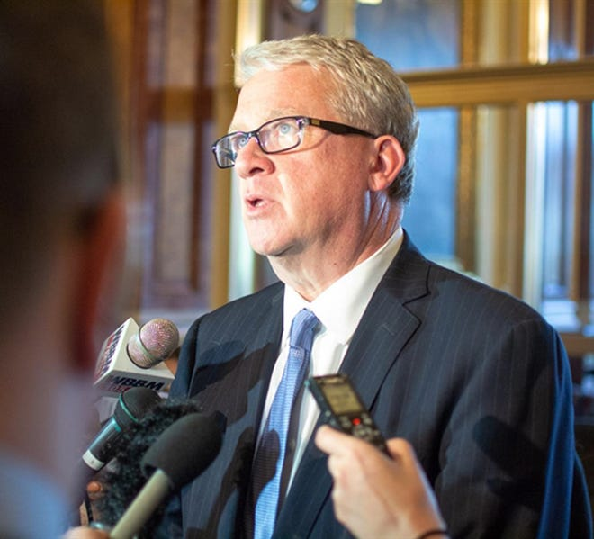 Illinois House Minority Leader Jim Durkin is pictured in a file photo at the Illinois State Capitol.