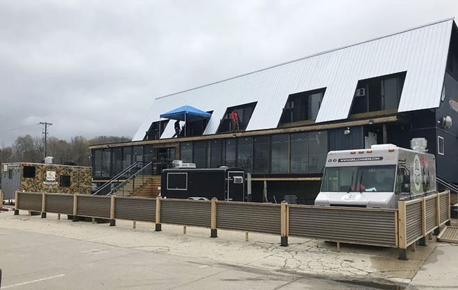 The new Charlevoix location of The Back Lot Beer Garden With Food Trucks is on track to open Friday, May 7.