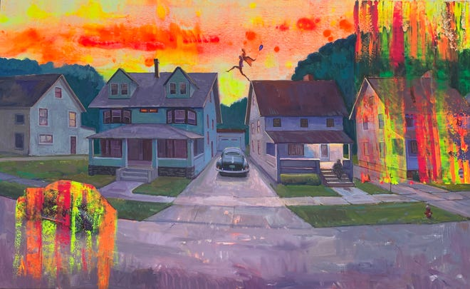 """David King's """"Time Travel"""" art exhibit is opening at 6 p.m. Thursday at Vital Arts Gallery in downtown Canton. The exhibit will be on display through mid-June at Vital Arts at 324 Cleveland Ave. NW."""