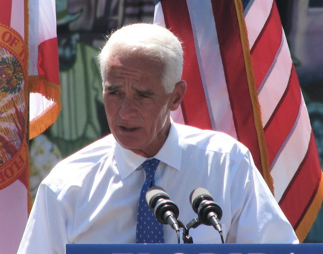 U.S. Rep. Charlie Crist, D-St. Petersburg, kicks off his campaign for governor Tuesday in St. Petersburg. Crist is making his second run for governor as a Democrat after previously serving as a Republican governor from 2007 to 2011.