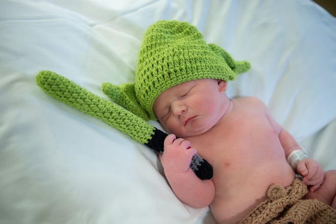 "Luke Gray Sokolowski was born at 9:59 a.m. on May 4 — ""Star Wars"" Day — to Matthew and Tamara Sokolowski of Lincoln at Memorial Medical Center in Springfield. Babies were outfitted in Baby Yoda ensembles to celebrate the day."