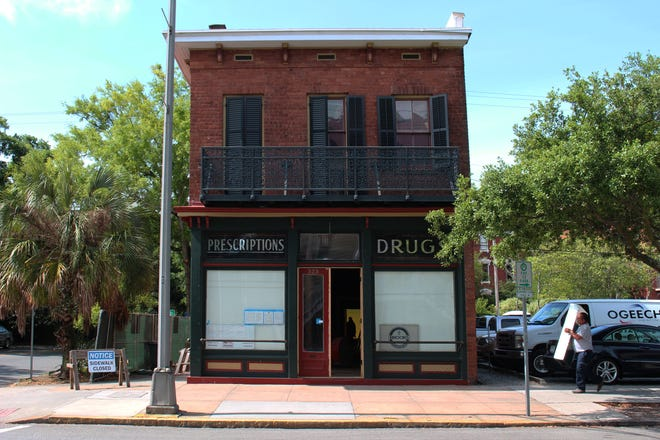 The Kennedy Pharmacy is under restoration and will become part of the Davenport House Museum.