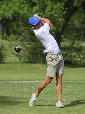 A week after capturing the City Championship, Washburn Rural's Luke Leonetti added the Centennial League title to his resume on Monday at Village Greens Golf Course. Leonetti birdied two of the final three holes to win by two shots over Topeka West's Myles Alonzo.