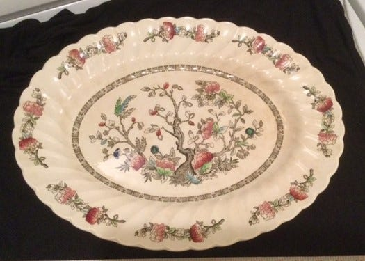 This platter has been in the reader's family for more than 75 years. [Submitted photo]