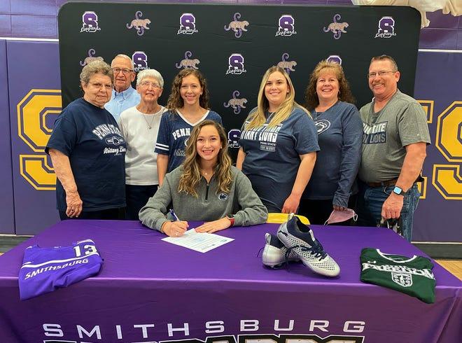 Smithsburg senior Stephanie Lewis signs with Penn State Mont Alto.
