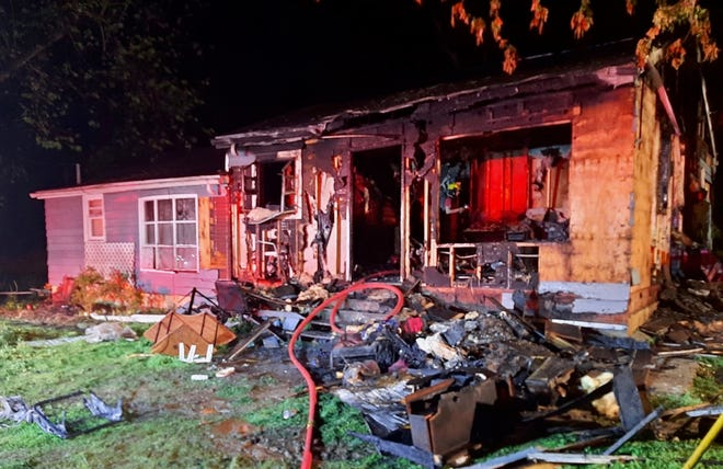 A fire Monday night displaced a Dargan family in southern Washington County.