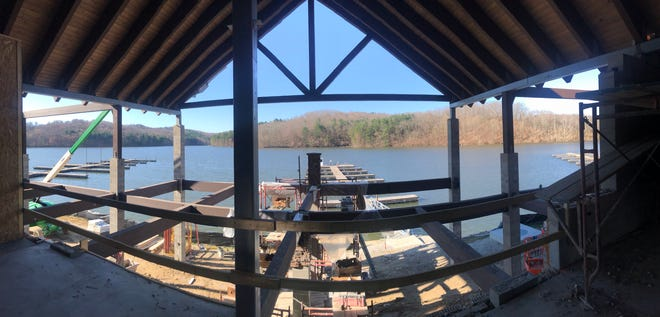 The main floor of the new marina at Tappan Lake will include a 250-seat restaurant.