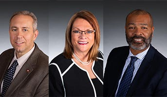 From left: District 77 state Rep. Justin Boyd, R-Fort Smith; District 76 state Rep. Cindy Crawford, R-Fort Smith; and District 78 state Rep. Jay Richardson, D-Fort Smith.