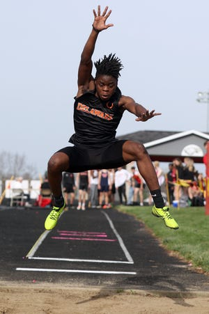 Orion Ward has been a top contributor for Delaware Hayes. In the Wildcat Invitational on April 23 at Westerville South, Ward set personal records in the 100 and 200 while winningboth events.