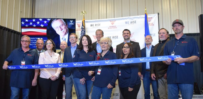 The Watertown Chamber of Commerce celebrated the rebranding of Power Systems with a ribbon-cutting ceremony.