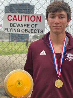 Ennis sophomore Heath Vernor will compete in the Class 5A boys' discus throw at the University Interscholastic League state track and field championships in Austin on Friday. Vernor qualified for state two weeks ago at the 5A Region II meet.