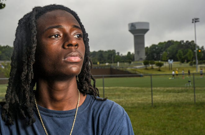 Charles McCord, a senior at D.W. Daniel High School, has set personal bests this year in the long jump (23 feet, 7.5 inches) and triple jump (48-11).