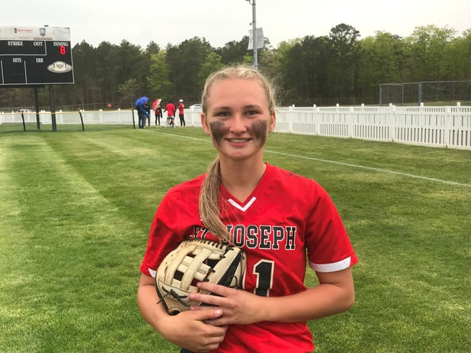 St. Joseph's Brianna Bailey has fit in quite nicely atop the lineup for the Wildcats this spring.