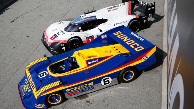 Porsche-Penske dominated Can Am in the early 1970s with the Porsche 917-30 (blue car).