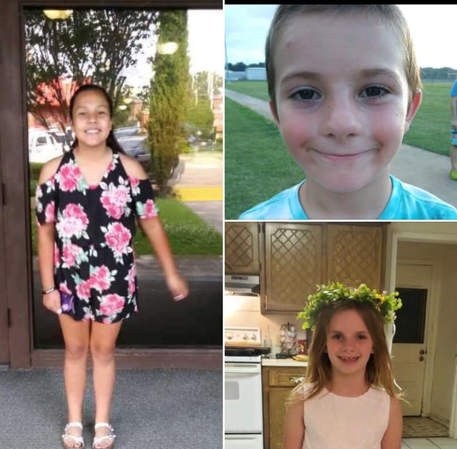 Three children, Mariah, left, Waylon, top right and Kenslee, bottom right,  were taken by a non-custodial parent from Fremont, according to a news release from the Sandusky County Sheriff's Office.