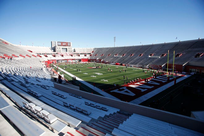 Colorado State's football team will play a game at Indiana's Memorial Stadium, shown here before a Nov. 28, 2020, game against Maryland, on Sept. 5, 2026.