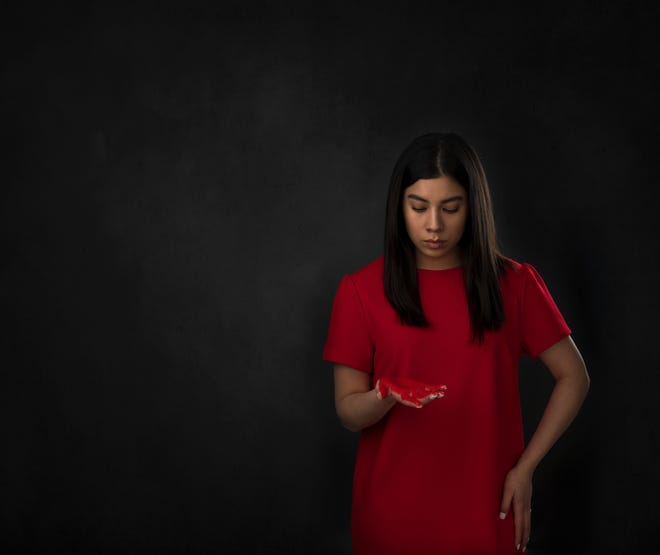 """Juliet Hayes, a young Indigenous woman, presents """"Say Her Name,"""" a short film on missing and murdered Indigenous people in Big Horn County."""