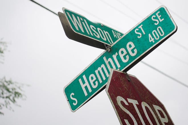 The 400 block of South Hembree Street in Knoxville, Tennessee, on Tuesday.