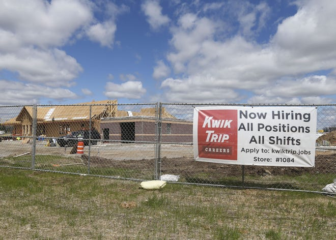 A new Kwik Trip location is seen under construction on Tuesday at 2001 N. Peach Ave. in Marshfield. The store is expected to open on July 29, according to a company spokesperson.
