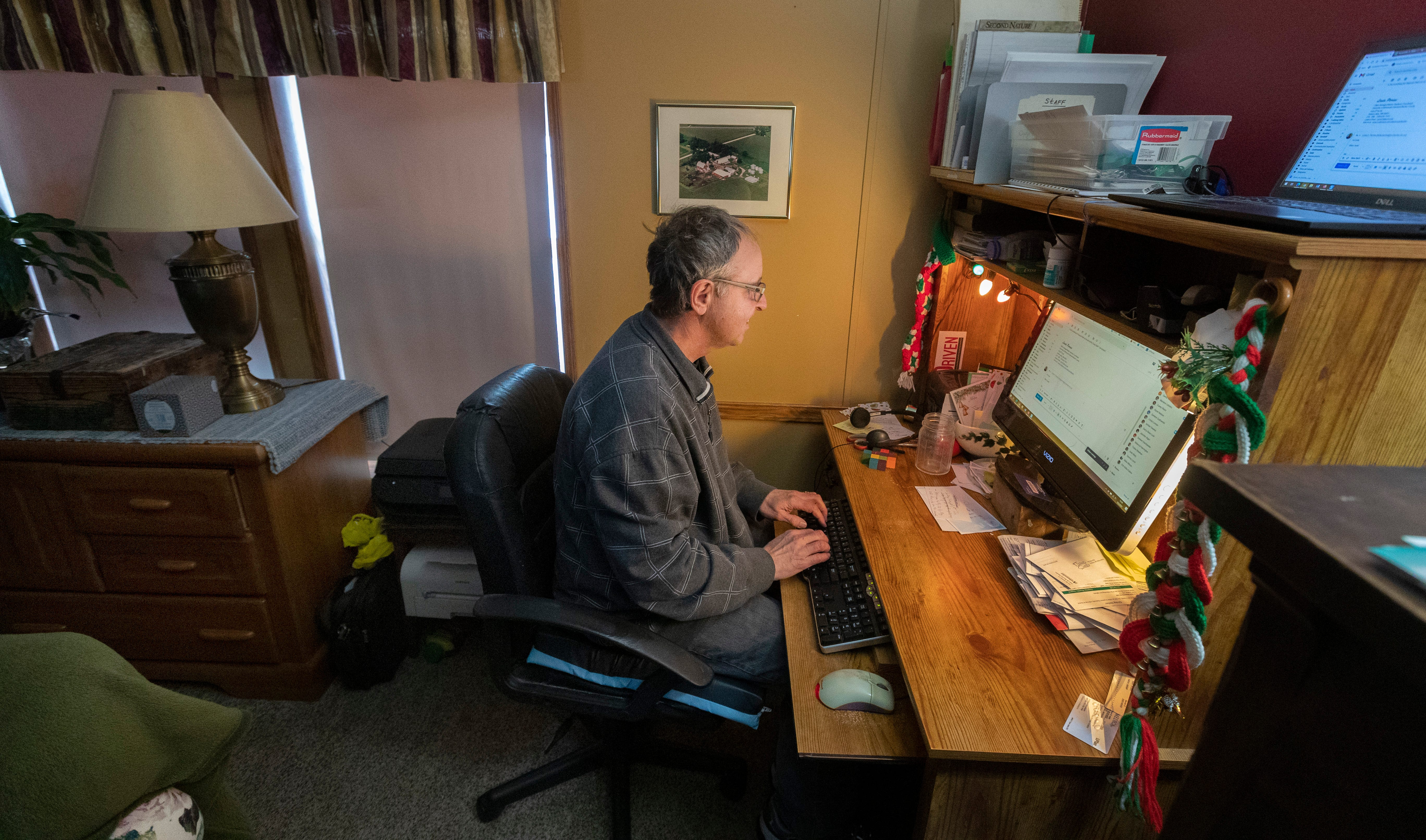 Todd Mehrkens of Hager City, Wis., lives near the Mississippi River in a rural area where the internet service was slow.