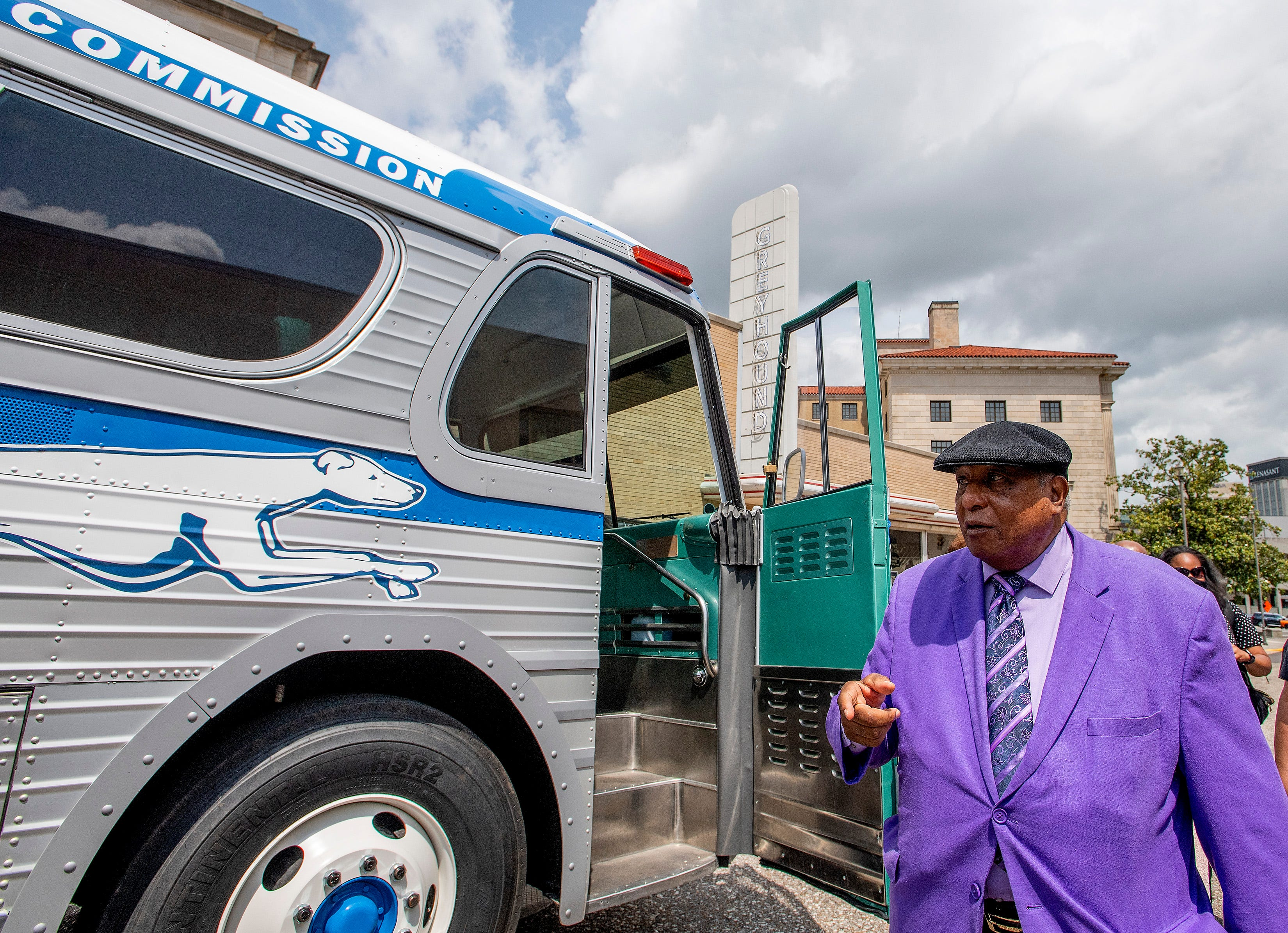 Freedom Rider Bernard Lafayette, Jr., speaks as a restored vintage Greyhound bus is unveiled at the Freedom Rides Museum in Montgomery, Ala., during a commemoration of the 60th anniversary of the Freedom Rides on Tuesday May 4, 2021.