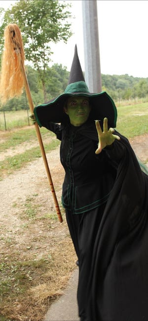 The Wicked Witch of the West will be one of the suspects during the Muncie Mystery activity in downtown Muncie during First Thursday on May 6, 2021.