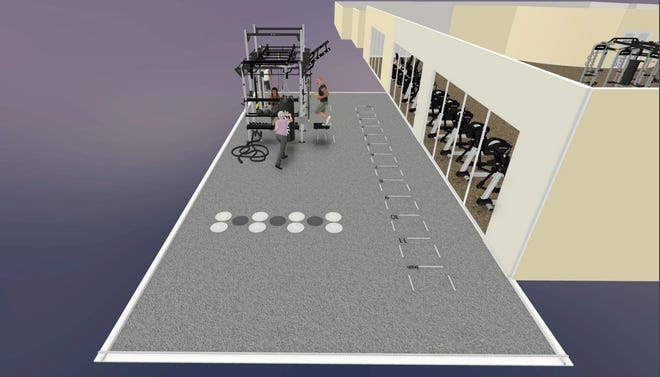 Artist's rendering of the new outdoor functional fitness area planned within Vineyards Country Club.