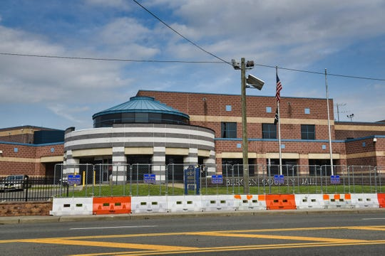 The Bergen County Jail on River Street in Hackensack is seen on May 4, 2021.