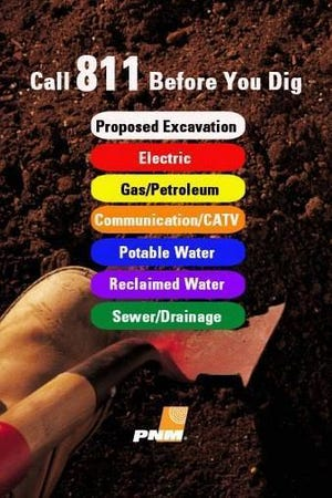 New Mexico 811 is a free service to use before digging to make sure you don't damage any underground lines that may be on your property.