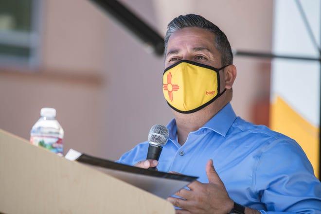 U.S. Senator Ben Ray Luján talks about vaccine equity at La Clínica de Familia in Las Cruces on Tuesday, May 4, 2021.