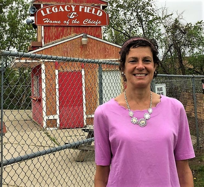 Kelly Holmes, who still holds the national high school record for most strikeouts in a seven-inning game, revisited the site of her famous achievement May 4.