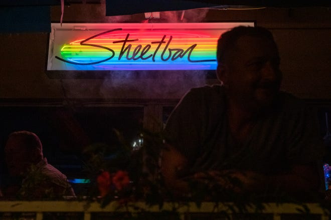 Streetbar has indoor and outdoor seating on Arenas Road in Palm Springs, Calif., on Friday, April 30, 2021.