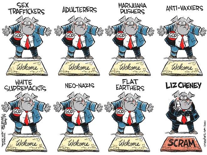 "Marlette cartoon: Where the GOP's ""big tent"" draws the line..."