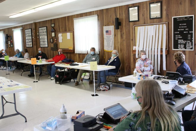 Poll workers were on hand for Tuesday's primary election, at Community Post #279, American Legion Post in Elmore.